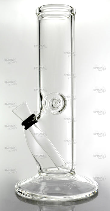 "8"" Clear Straight Wine Base Slide Water Pipe - SmokeZone 420"