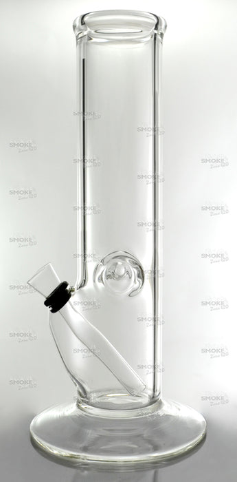 "10"" Clear Straight Wine Base Slide Water Pipe - SmokeZone 420"