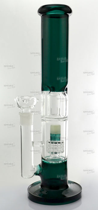 "13"" Dome & Matrix Perc Teal Color Water Pipe - SmokeZone 420"