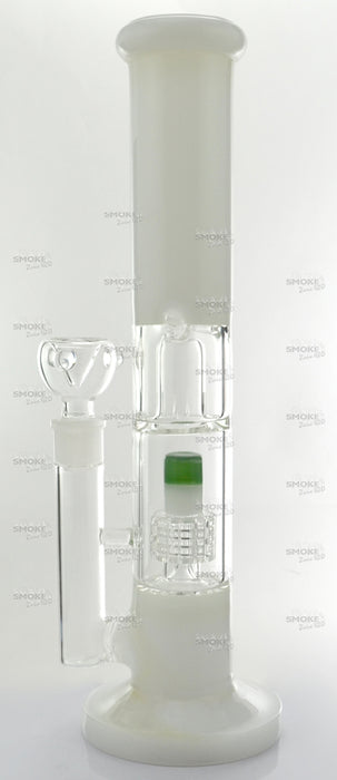 "13"" Dome & Matrix Perc White Color Water Pipe - SmokeZone 420"