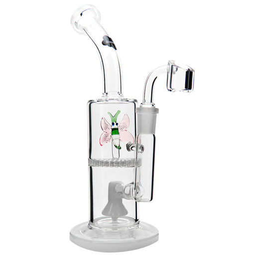 "10"" Dream Butterfly Double Perc Dab Rig - SmokeZone 420"