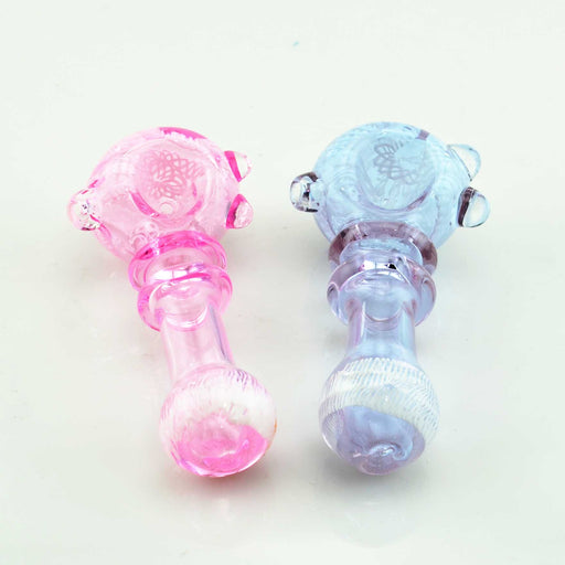 4.5 Inch Double Ring Hand Pipe (Pink & Purple Color) - SmokeZone 420