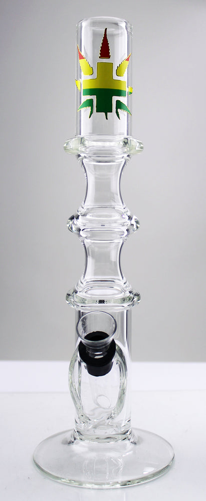 "10"" Triple Ring Wine Base Water Pipe - SmokeZone 420"