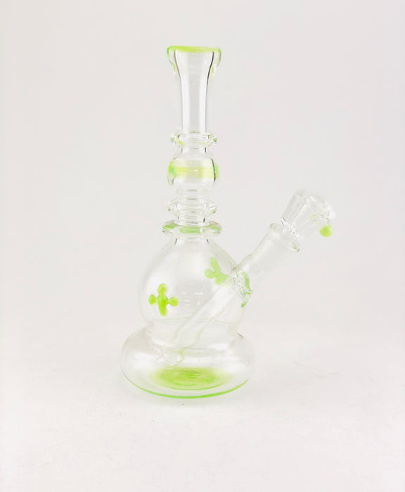 "8"" Bubble Body Slime Green Water Pipe - SmokeZone 420"