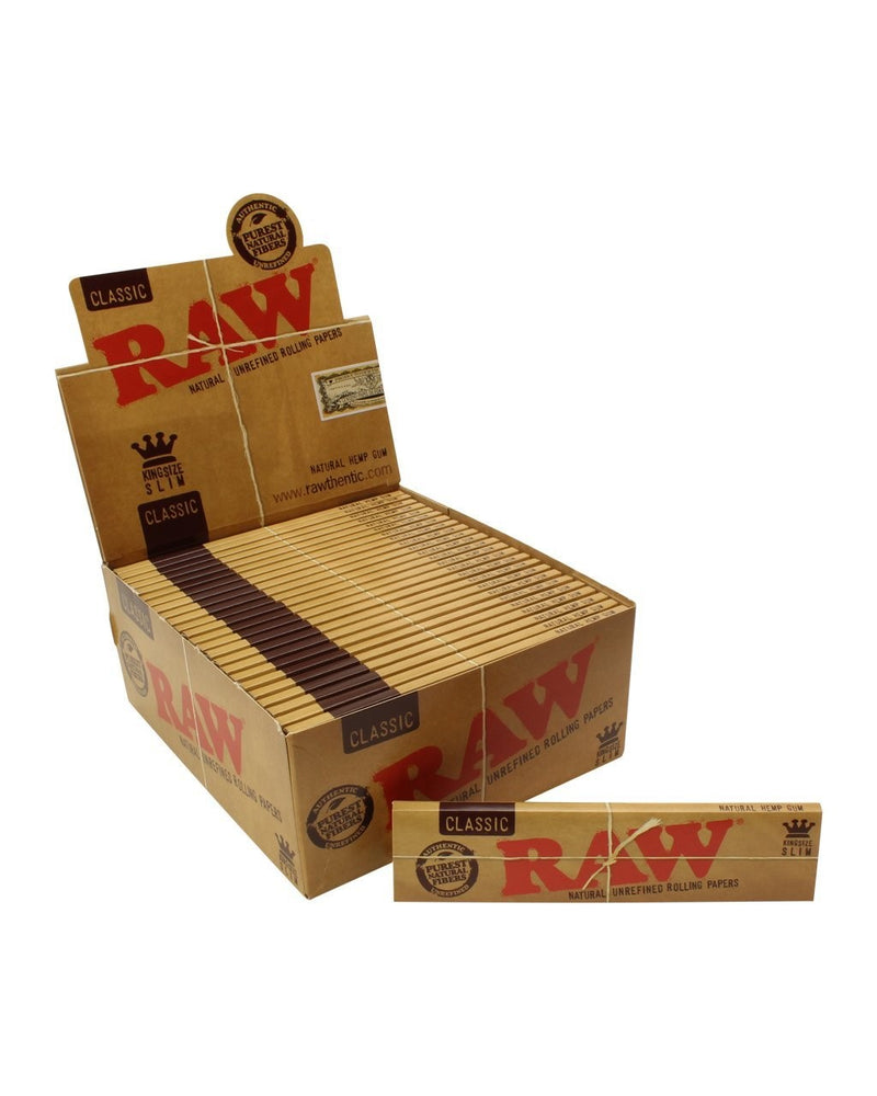RAW Classic King Size Slim Rolling Paper - SmokeZone 420