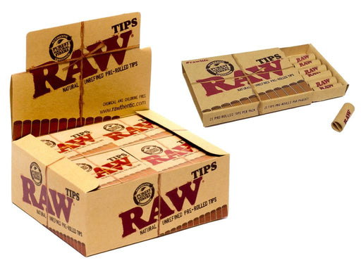RAW Pre-Rolled Tips - SmokeZone 420