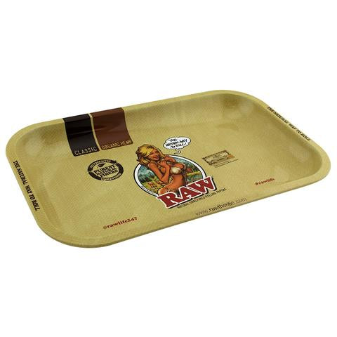 "RAW Girl Rolling Tray 11""x7"" - SmokeZone 420"