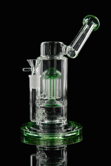 "10"" Blue Microscope Tree Perc Water Pipe - SmokeZone 420"