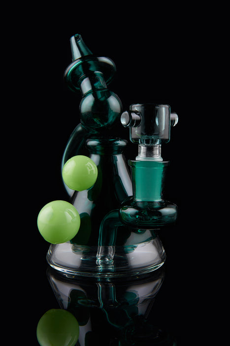 "5"" Double Bead Mini Beaker Dab Rig - SmokeZone 420"