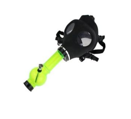 Black Gas Mask With Acrylic Tube - SmokeZone 420