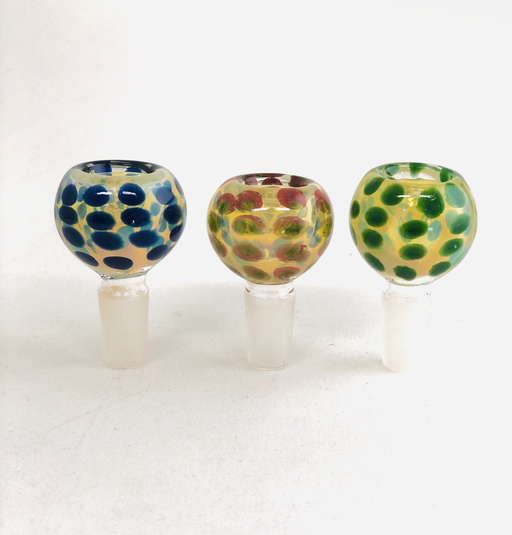 14mm Fumed Polka Dot Bowls - SmokeZone 420