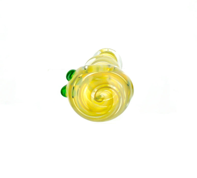 "4"" Double Bubble Triple Bead Hand Pipe - SmokeZone 420"