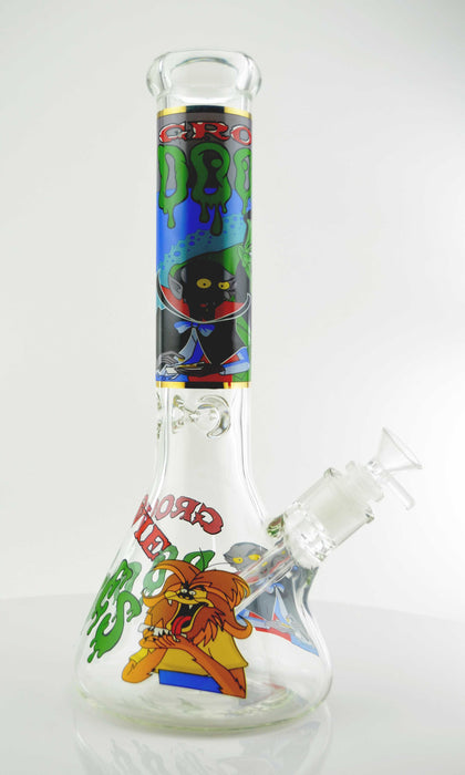 "12"" Cartoon Decal Beaker Base Water Pipe - SmokeZone 420"