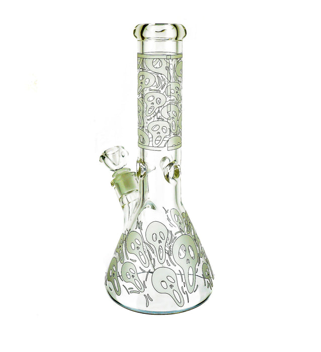 "12"" Ghost Print Beaker Base Water Pipe - SmokeZone 420"