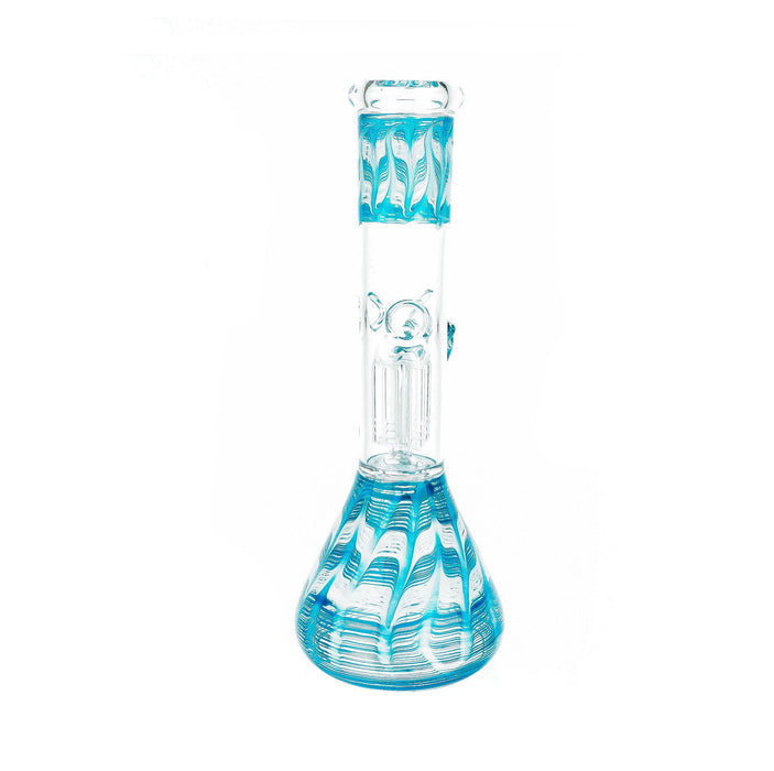"10"" 6 Arm Perc Wrap & Rake Color Water Pipe - SmokeZone 420"