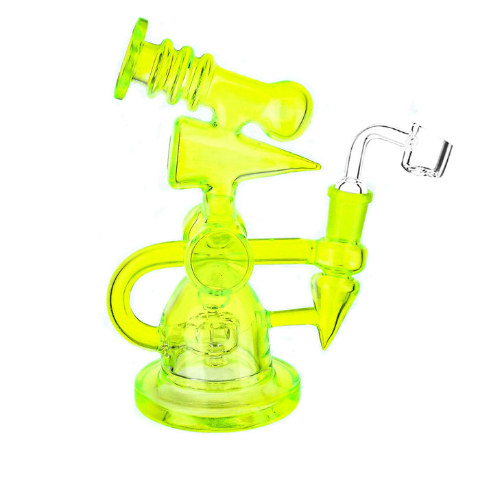 "7"" UV Reactive Shower Perc Rig - SmokeZone 420"