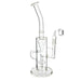 "12"" Clear Recylcer Shower Perc Dab Water Pipe - SmokeZone 420"