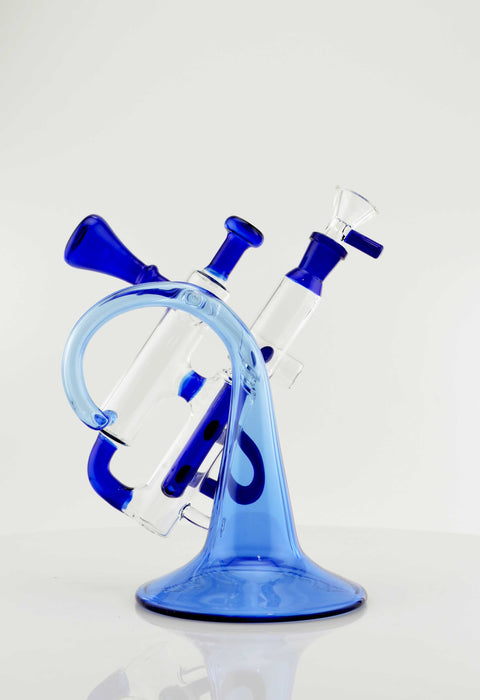 7 Inch Fancy Trumpet Style Recycler Water Pipe - SmokeZone 420