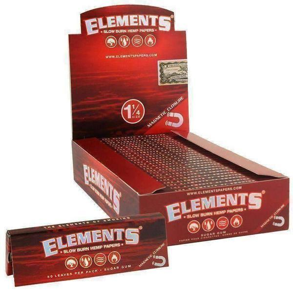 Elements Red Slow Burn 1¼ Hemp Papers - SmokeZone 420