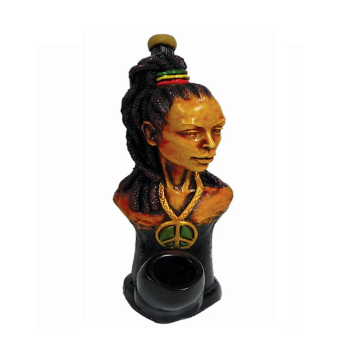 Rasta Mama Wood Pipe - SmokeZone 420