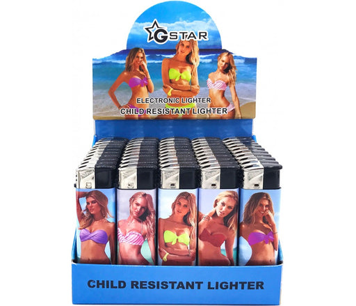 GSTAR Bikini Girls Refillable Lighters - SmokeZone 420