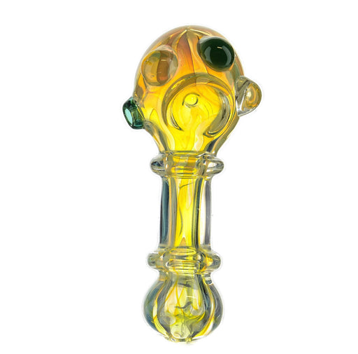 "4.5"" Triple Bead Double Ring Fumed Hand Pipe - SmokeZone 420"