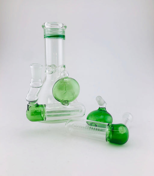 14/14mm Green Diffused Inline Ash Catcher - SmokeZone 420