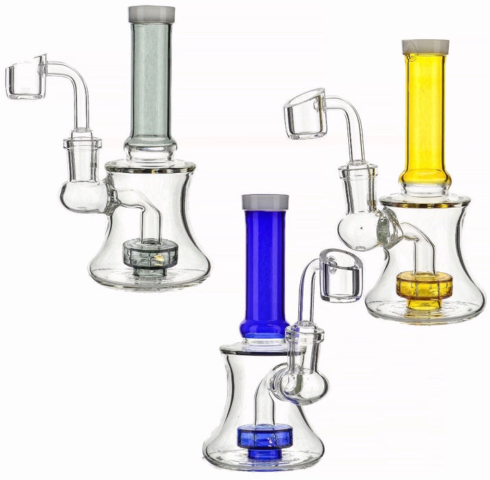 "6"" Straight Mouth Shower Perc Dab Rig - SmokeZone 420"