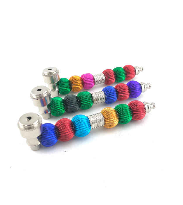 "5"" Color Ball Body Metal Pipe - SmokeZone 420"