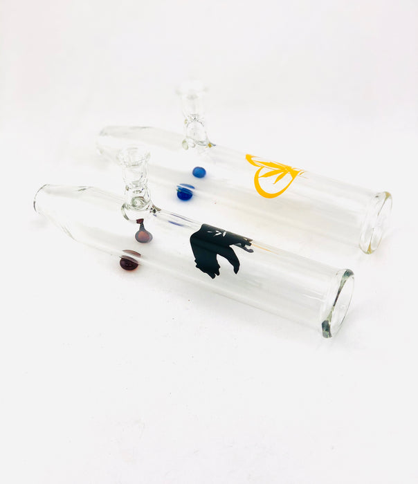 "8"" Clear Decal Built In Bowl Stream Roller - SmokeZone 420"