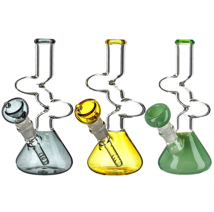 "8"" Color Beaker Base Zong Water Pipe - SmokeZone 420"