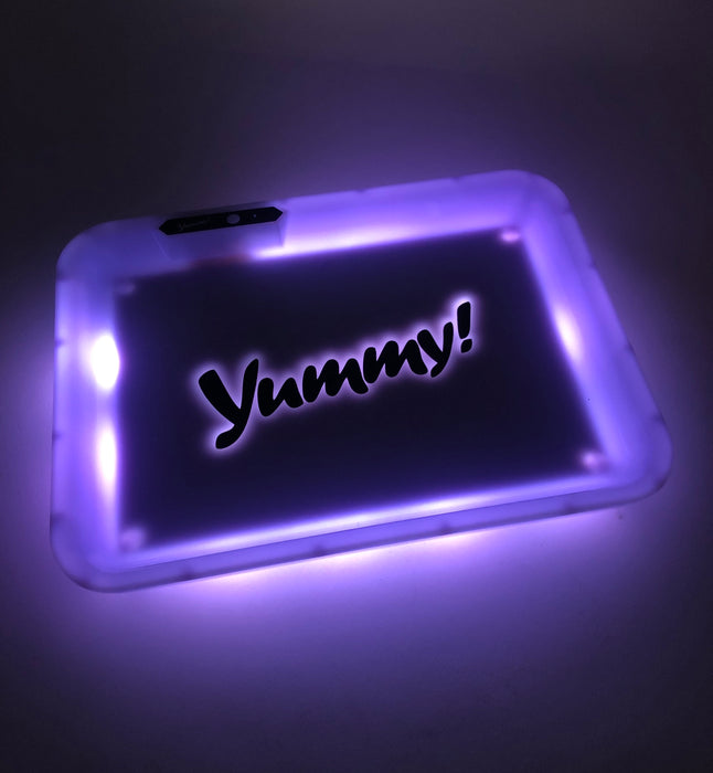 "Yummy! Glow LED Rolling Tray 11""x8"" - SmokeZone 420"