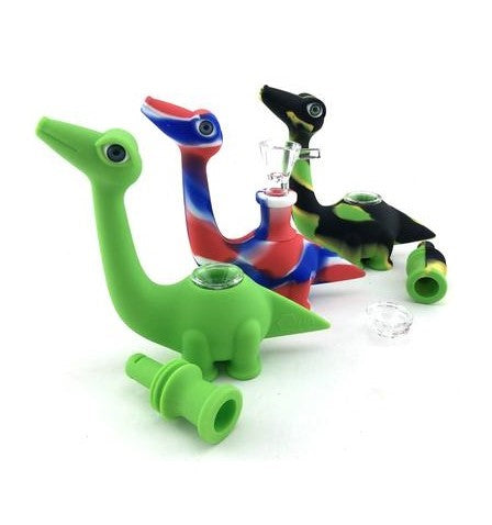 Silicone Dinosaur Style Hand Pipe - SmokeZone 420