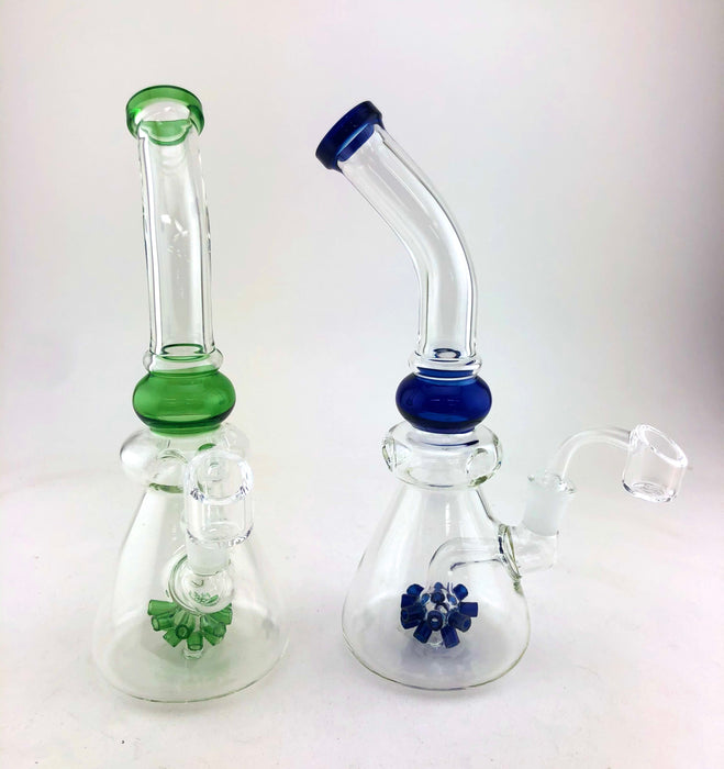 "10"" Bent Mouth Sea Mine Perc Dab Rig - SmokeZone 420"