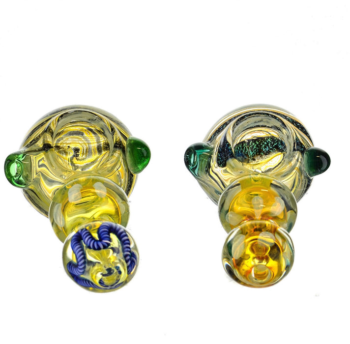 "4.5"" Dichro Head Double Bubble Spoon Pipe - SmokeZone 420"