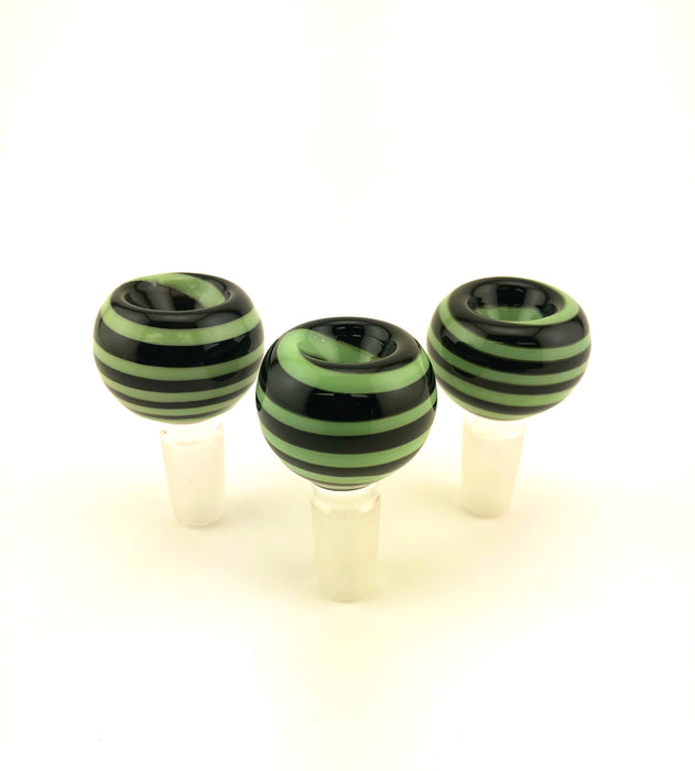 14mm Black Tube Slime Wrapped Bowls - SmokeZone 420