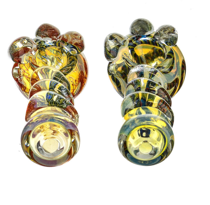 "5"" Glass Striped Inside Work Fumed Spoon Pipe - SmokeZone 420"