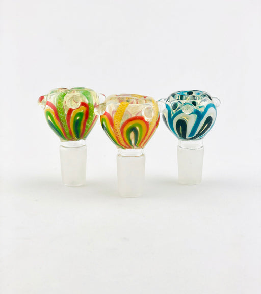 18mm Fancy Art Fumed Bowls - SmokeZone 420