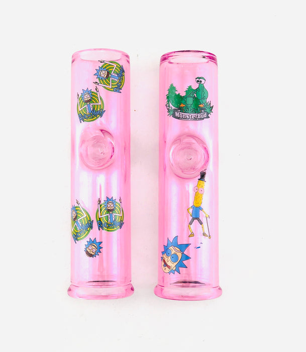 "8"" Pink Heavy Cartoon Design Steam Roller - SmokeZone 420"