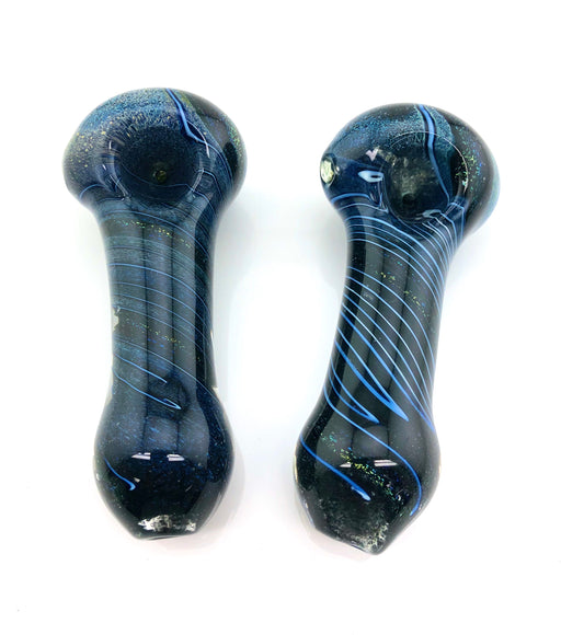"4.5"" Frit Twisted Dichro Hand Pipe - SmokeZone 420"