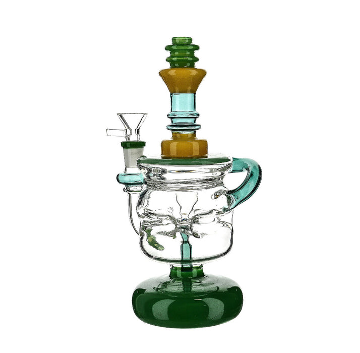 "9"" Faberge Egg Style Recycler Water Pipe - SmokeZone 420"
