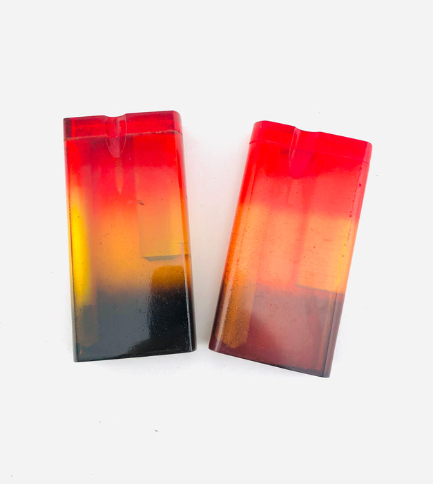 "4"" Transparent Rasta Color Acrylic Dugouts - SmokeZone 420"