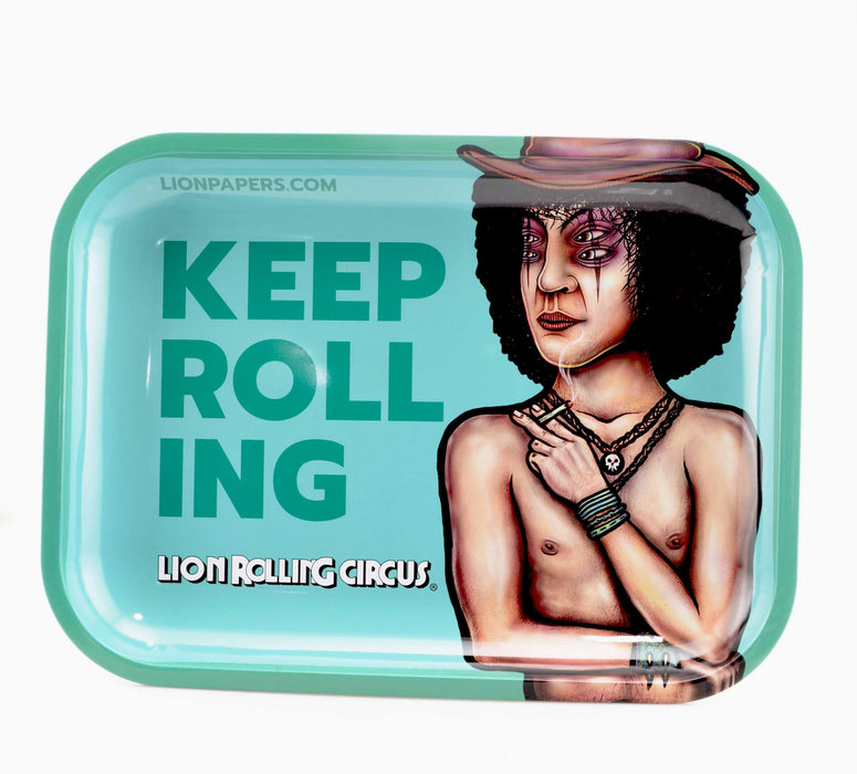 Keep Rolling Lion Rolling Circus Rolling Trays - Large Size - SmokeZone 420