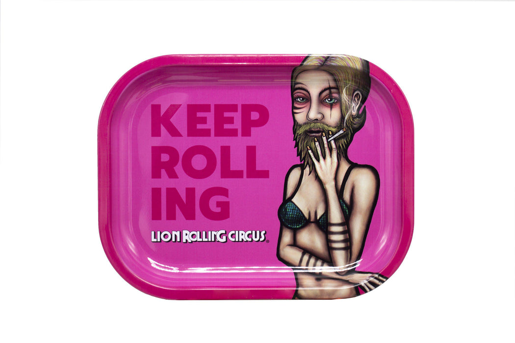 Lion Rolling Circus Rolling Trays - Small Size - SmokeZone 420