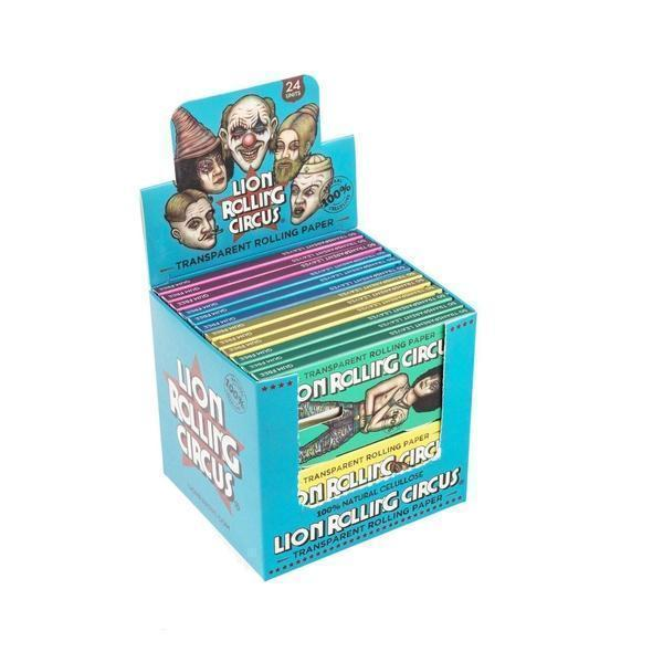 Lion Rolling Circus 1¼ Transparent Rolling Paper - SmokeZone 420