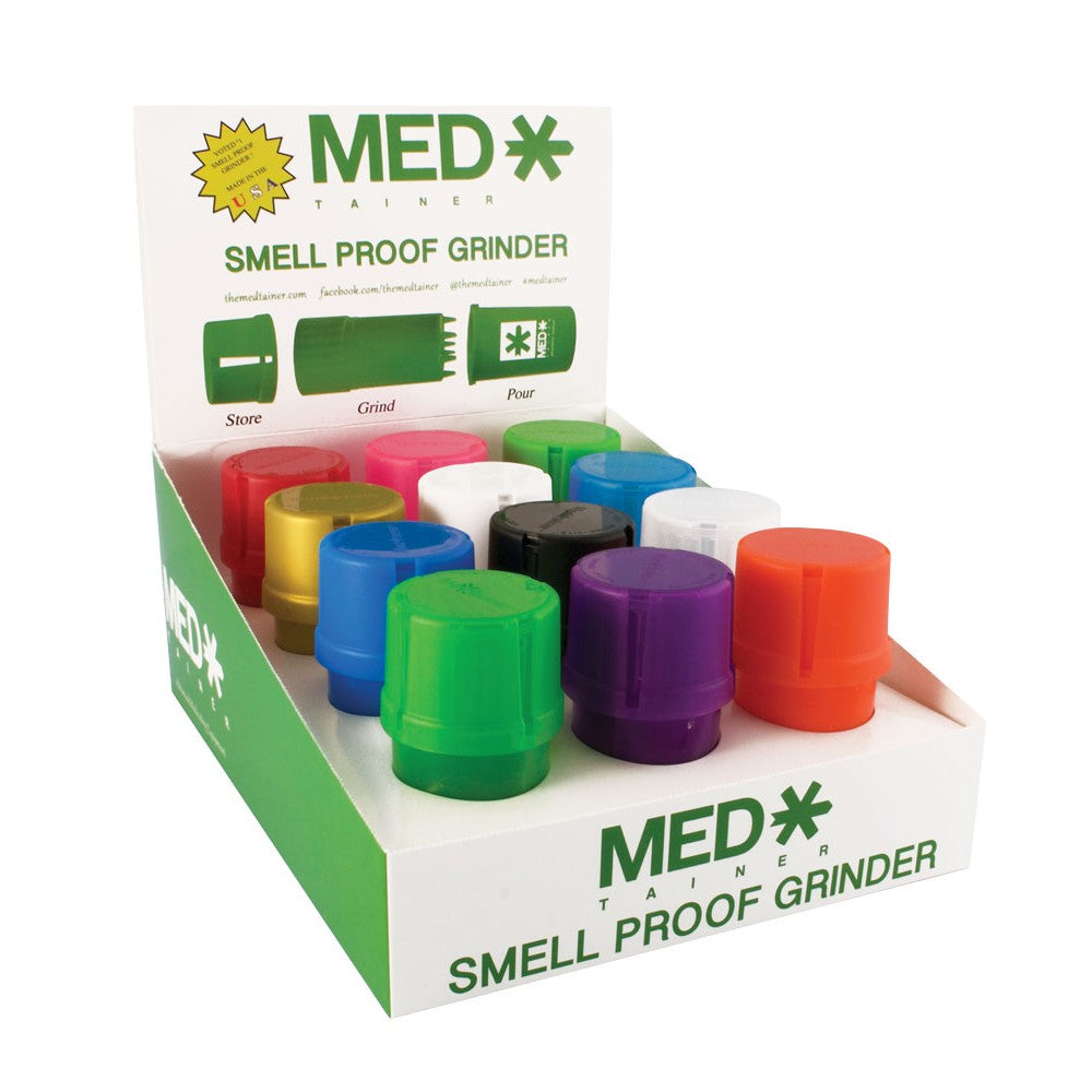 Med*Tainer Smell Proof Grinder (12 Per Box) - SmokeZone 420