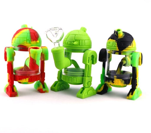 Silicon R2D2 Robot Water Pipe (Assorted Color) - SmokeZone 420
