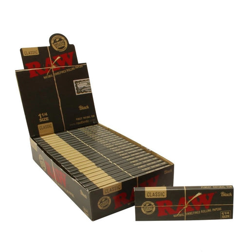 RAW Black Classic 1¼ Rolling Paper - SmokeZone 420