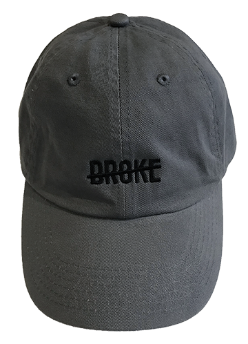 Charcoal Embroidered Dad Hat
