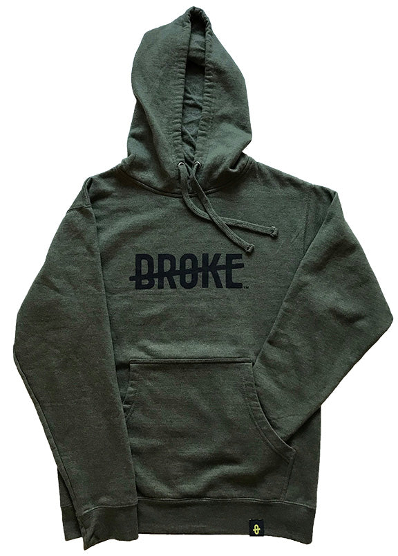 Heather Military Green Logo Hoodie